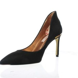 Ted Baker Womens Black Suede Savio Pumps  US 6
